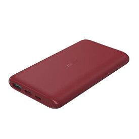 AUKEY オーキー モバイルバッテリー Sprint Go 10c 37W 出力 レッド PB-XN10-RD [10000mAh /2ポート /充電タイプ]