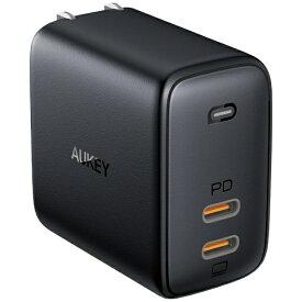 AUKEY オーキー AUKEY(オーキー) USB充電器 Omnia Duo 65W [USB-C] ブラック PA-B4-BK [2ポート /USB Power Delivery対応 /GaN(窒化ガリウム) 採用]