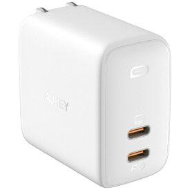 AUKEY オーキー AUKEY(オーキー) USB充電器 Omnia Duo 65W PD対応 [USB-C 2ポート] ホワイト AUKEY(オーキー) White PA-B4-WH