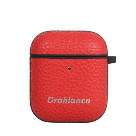 イングリウッド inglewood オロビアンコ シュリンク PU Leather AirPods Case レッド AP12ORB03