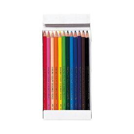 サクラクレパス SAKURA COLOR PRODUCT クーピー色鉛筆12色 (紙箱入り) PFY12K