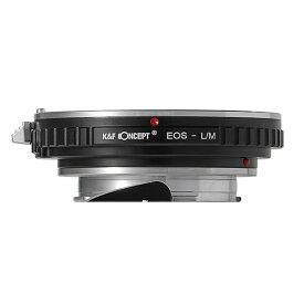 K&F Concept ケーアンドエフコンセプト KF-EFM2 マウントアダプター (カメラ側:ライカM レンズ側:キヤノンEFマウント) KF-EFM2