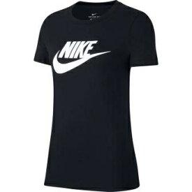 ナイキ NIKE レディース ナイキ ウィメンズ エッセンシャル アイコン フューチュラ S/S Tシャツ(XLサイズ/ブラック×ホワイト) BV6170