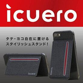 イツワ商事 ITSUWA SHOJI IPHONE 8/7/6S ICUERO WALLET BLACK ICUERO-WS-IP8BK