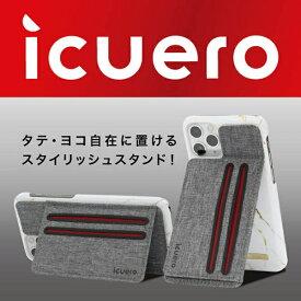 イツワ商事 ITSUWA SHOJI IPHONE11 PRO MAX/11/11 PRO ICUERO WALLET GRAY ICUERO-WS-IP11GY