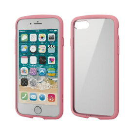 エレコム ELECOM iPhone SE(第2世代)4.7インチ対応 TOUGH SLIM LITE フレームカラー ピンク PM-A19ATSLFCPN