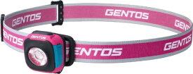 ジェントス GENTOS CP-260RSP コンパクトヘッドライト USB充電式/3段階調光機能/可動式ヘッド/防滴仕様 ジェントス ピンク CP-260RSP [LED /充電式]