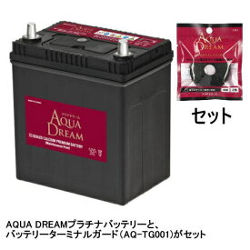 AQUA DREAM アクアドリーム AD-MF55B19R-TG 国産車用バッテリー メンテナンスフリー 充電制御車対応 ターミナルガード(AQ-TG001)セット 【メーカー直送・代金引換不可・時間指定・返品不可】