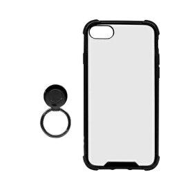 OWLTECH オウルテック iPhone SE(第2世代)4.7インチ/8/7対応 リング付ハイブリッド耐衝撃ケース ブラック OWL-CVIC4707-BK ブラック