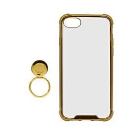OWLTECH オウルテック iPhone SE(第2世代)4.7インチ/8/7対応 リング付ハイブリッド耐衝撃ケース ゴールド OWL-CVIC4707-GO ゴールド