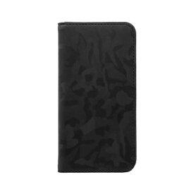 OWLTECH オウルテック iPhone SE(第2世代)4.7インチ/8/7/6s対応 手帳型ケース 迷彩柄 OWL-CVIC4714-BK ブラック