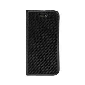 OWLTECH オウルテック iPhone SE(第2世代)4.7インチ/8/7/6s対応 手帳型ケース カーボン柄 OWL-CVIC4715-BK ブラック