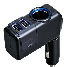 セイワ SEIWA CORPORATION USB2ポート DC充電+電圧計 モニタリングダイレクトソケット 計4.8A ブラック F307