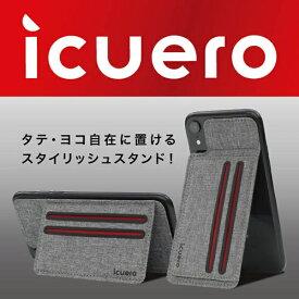イツワ商事 ITSUWA SHOJI IPHONE XS MAX/XR ICUERO WALLET GRAY ICUERO-WS-XRGY
