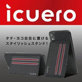 イツワ商事 ITSUWA SHOJI IPHONE XS MAX/XR ICUERO WALLET BLACK ICUERO-WS-XRBK