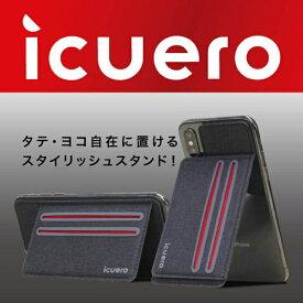 イツワ商事 ITSUWA SHOJI IPHONE XS/X ICUERO WALLET BLACK ICUERO-WS-XSBK