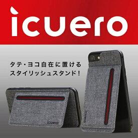 イツワ商事 ITSUWA SHOJI IPHONE 8/7/6S ICUERO WALLET GRAY ICUERO-WS-IP8GY