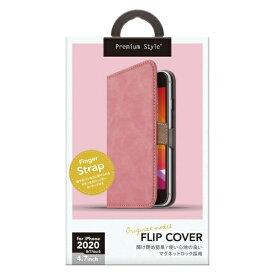 PGA iPhone SE(第2世代) フリップカバー PUレザーダメージ加工 ダスティピンク PG-20MFP03PK