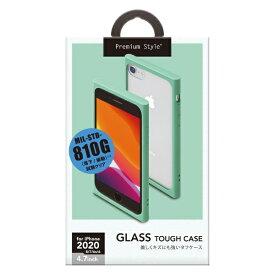 PGA iPhone SE(第2世代) ガラスタフケース ミント PG-20MGT04GR