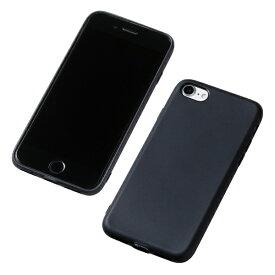 DEFF ディーフ iPhone SE(第2世代)4.7インチ用 シリコンハードケース CRYTONE ブラック DCS-IPS9BK