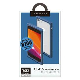 PGA iPhone SE(第2世代) ガラスタフケース ネイビー PG-20MGT07NV