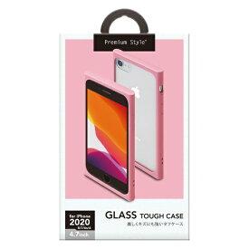 PGA iPhone SE(第2世代) ガラスタフケース ピンク PG-20MGT08PK