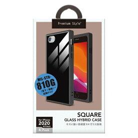 PGA iPhone SE(第2世代) ガラスハイブリッドケース ブラック PG-20MGT09BK