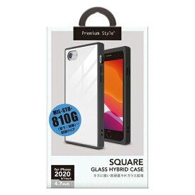 PGA iPhone SE(第2世代) ガラスハイブリッドケース ホワイト PG-20MGT10WH