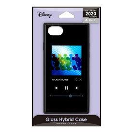 PGA iPhone SE(第2世代) ガラスハイブリッドケース ミッキーマウス/ブラック PG-DGT20M01MKY
