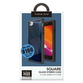 PGA iPhone SE(第2世代) ガラスハイブリッドケース ダイヤ ブラック PG-20MGT11BK