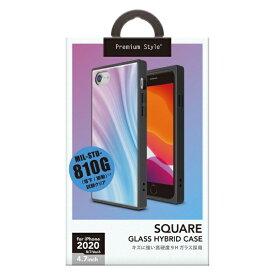 PGA iPhone SE(第2世代) ガラスハイブリッドケース パープル PG-20MGT13PP
