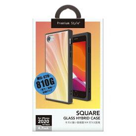 PGA iPhone SE(第2世代) ガラスハイブリッドケース オレンジ PG-20MGT14OR