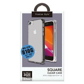 PGA iPhone SE(第2世代) オールTPUケース クリアブラック PG-20MTP02BK