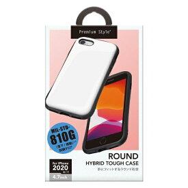 PGA iPhone SE(第2世代) ハイブリッドタフケース ホワイト PG-20MPT02WH