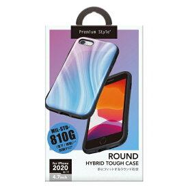 PGA iPhone SE(第2世代) ハイブリッドタフケース パープル PG-20MPT03PP