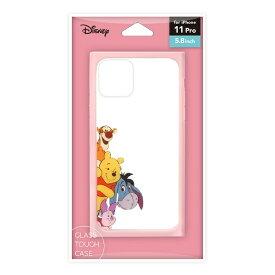 PGA iPhone11 Pro用 ガラスタフケース くまのプーさん Premium Style くまのプーさん PG-DGT19A51POO