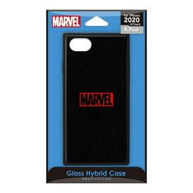 PGA iPhone SE(第2世代) ガラスハイブリッドケース ロゴ/ブラック PG-DGT20M10BK