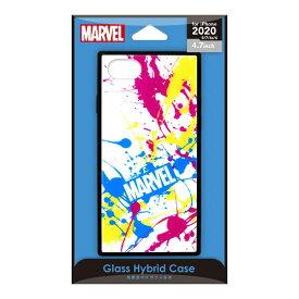 PGA iPhone SE(第2世代) ガラスハイブリッドケース スプラッシュロゴ/ホワイト PG-DGT20M11WH