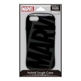 PGA iPhone SE(第2世代) ハイブリッドタフケース ロゴ/ブラック&グレー PG-DPT20M11BK