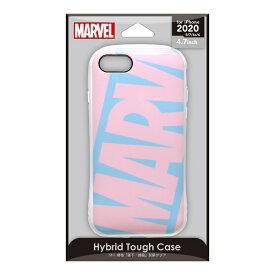 PGA iPhone SE(第2世代) ハイブリッドタフケース ロゴ/ピンク&ブルー PG-DPT20M12PK