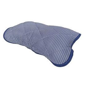 大宗 【涼感パッド】リバーシブル枕パッド 裏綿パイル (45×55cm/ネイビー)