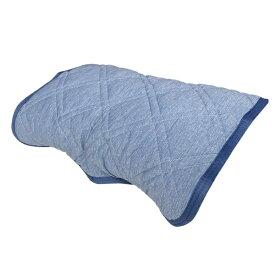 大宗 【涼感パッド】リバーシブル枕パッド 裏ジャガードニット (45×55cm/ブルー)