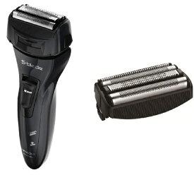 日立 HITACHI メンズシェーバー S-blade(エスブレード) RM-FL90BK [4枚刃 /国内・海外対応] + 外刃 K-F39S セット[電気シェーバー 男性用 髭剃り RMFL90BK]