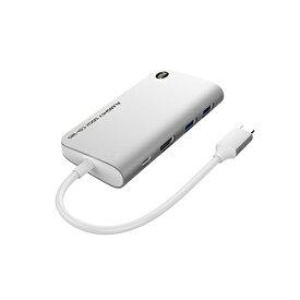 TUNEWEAR SSD 120GB内蔵[USB-C オス→メス HDMI / USB-Ax2 / USB-C] ドッキングステーション USB PD対応 シルバー TUN-OT-000058 [USB Power Delivery対応]