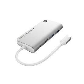 TUNEWEAR SSD 480GB内蔵[USB-C オス→メス HDMI / USB-Ax2 / USB-C] ドッキングステーション USB PD対応 シルバー TUN-OT-000062 [USB Power Delivery対応]