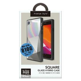 PGA iPhone SE(第2世代) ガラスハイブリッドケース ダイヤ ホワイト PG-20MGT12WH