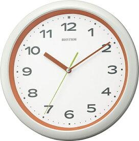 リズム時計 RHYTHM 掛け時計 【フィットウェーブプリシラ】 オレンジ 8MY562SR14 [電波自動受信機能有]