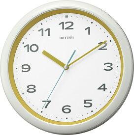 リズム時計 RHYTHM 掛け時計 【フィットウェーブプリシラ】 黄 8MY562SR33 [電波自動受信機能有]