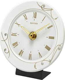 リズム時計 RHYTHM 置時計 池田製陶所 有田焼 「アマービレR801」 4SG801SR18