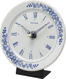リズム時計 RHYTHM 置時計 池田製陶所 有田焼 「アマービレR802」 4SG802SR04
